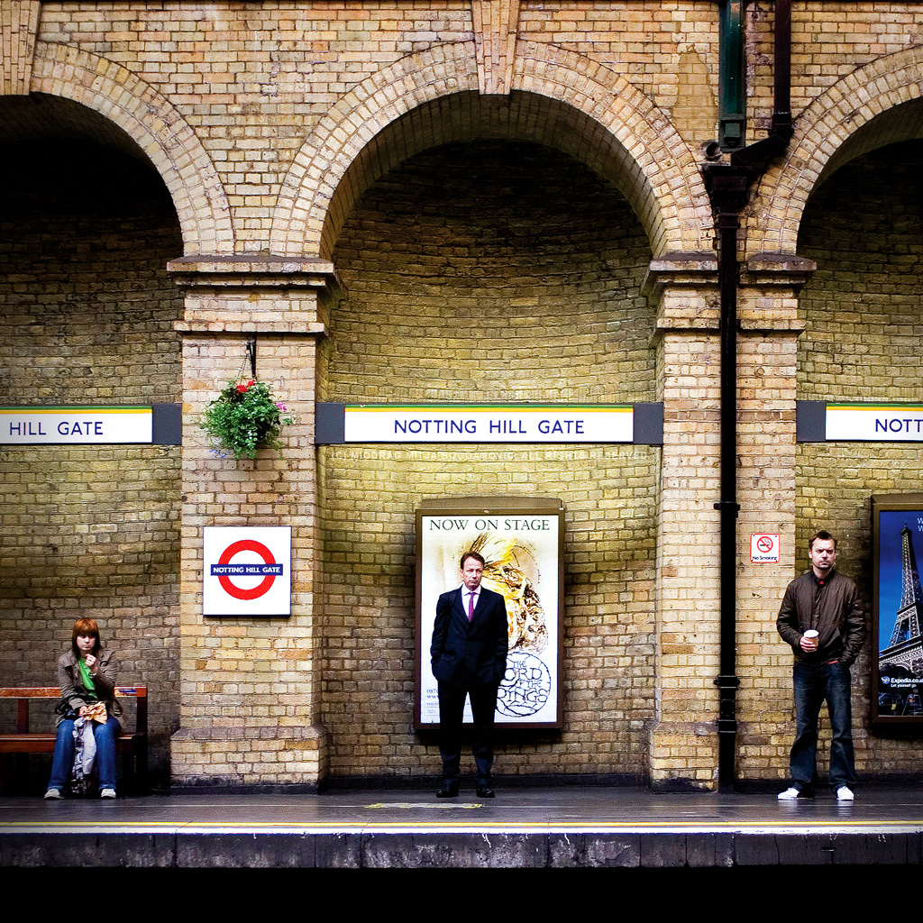 Arched people - Notting Hill Gate tube station - London by Miodrag mitja Bogdanovic