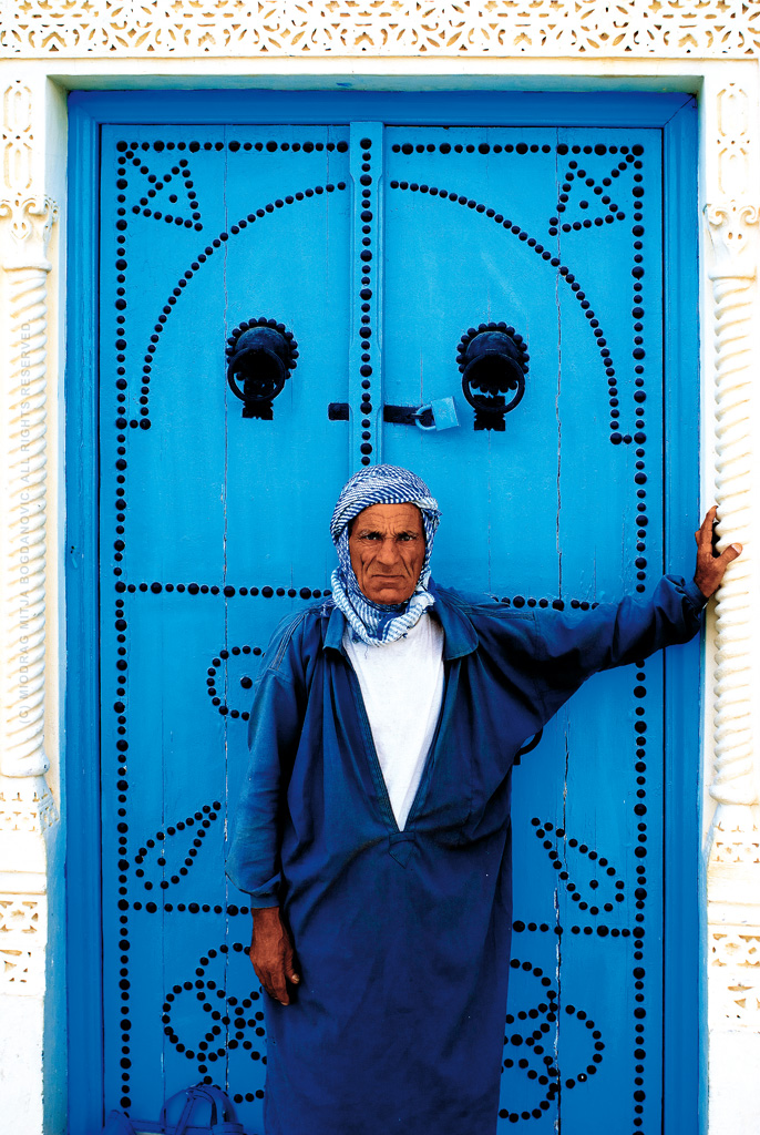 Life in Blue - Kairouan, Tunisia by Miodrag mitja Bogdanovic